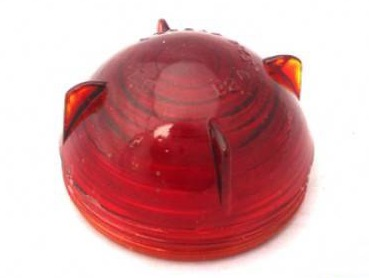 600858 SH - Glass Screw-on Lens, Red, Stop/Tail