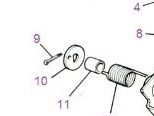 502898 - Special Anchor Washer for Torsion Spring