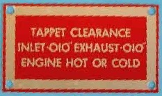 247634 - Tappet Clearance Plate, 2 Litre Diesel, 2¼ Diesel and 2¼ Petrol