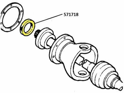571718 REP - Oil Seal, Inside Swivel Bearing Housing, Replacement specification