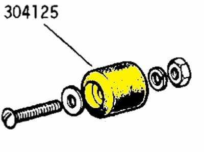 304125 - Rubber Buffer, various applications