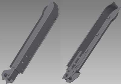 PSK 2005 - Door Pillar Sub-Assembly, LH, Type 1