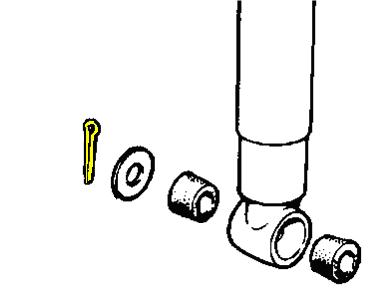4063 - Split Cotter Pin, Shock Absorber Bottom Fixing