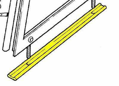 330163 - Sealing Strip, Door Top to Lower Door