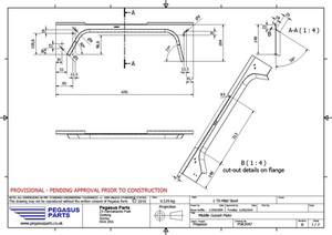 PSK 3047 - Middle Gusset Plate, Type 1