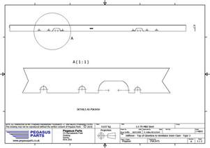 PSK 3075 - Stiffener, Top of Glove Box to Ventilator Inner Panel, Type 3
