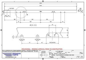 PSK 3116 - Stiffener, Top of Glove Box to Ventilator Inner Panel, Type 6