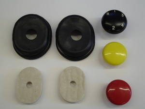 PSK 1148 - Gear Knobs and Pedal Grommets Kit, Late 1949 to 1958