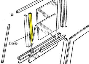 330660 - Sealing Strip, Sliding Glass