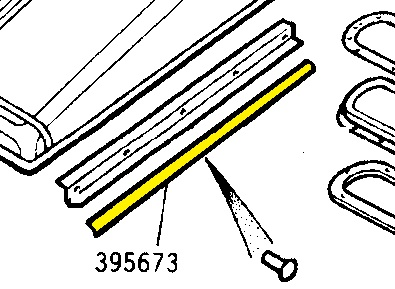 395673 - Door Seal, Top of Door Top