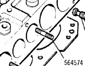564574 - Stud, Exhaust Manifold to Cylinder Head, Middle Position