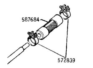 572839 - Special Clip, Fuel Pipe Flexible Connection