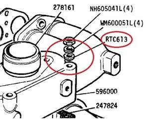 RTC 613 - Special Plain Washer, Inlet Manifold to Exhaust Manifold