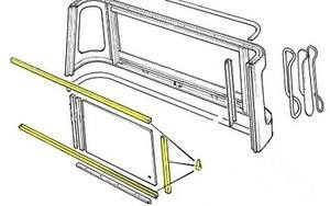 PSK 1229 - Window Channel Kit, Truck Cab, Early 90/110 Defender