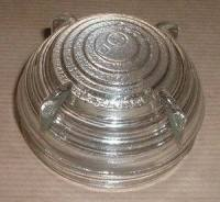 600855 - Lens, Military Screw-on, Clear Glass, Front Side Lamp