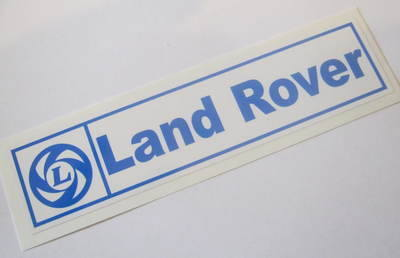 PSK 1303 - Label, BL Land Rover, Static Cling type