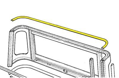 334614 - Weatherstrip, Top Rear of Truck Cab
