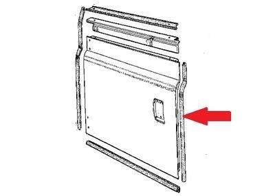 395671 - Door Seal, Front LH Door, Bottom Rear