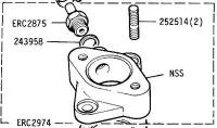 ERC 2974 SH - Adaptor, Zenith Carburettor to Inlet Manifold, Second-hand