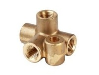241690 - Connector, Brake Pipes, 4-way, Imperial threaded