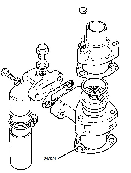 247874 - Gasket, Bottom of Thermostat Housing
