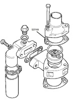 527110 - Gasket, Top of Thermostat Housing, 3 Bearing Engines