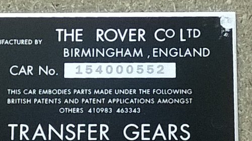 PLATE ENGRAVING - Engraving of chassis or VIN number