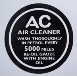 PSK 1306 - Label, AC Engine Breather