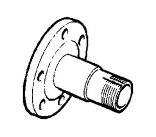 599827 - Front Stub Axle, up to September 1980