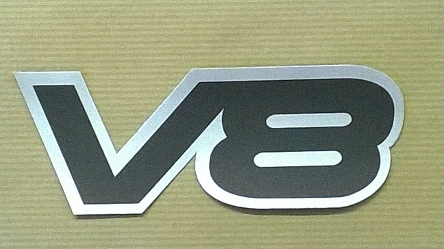 MRC 7537 - Badge, V8, Rear End Panel