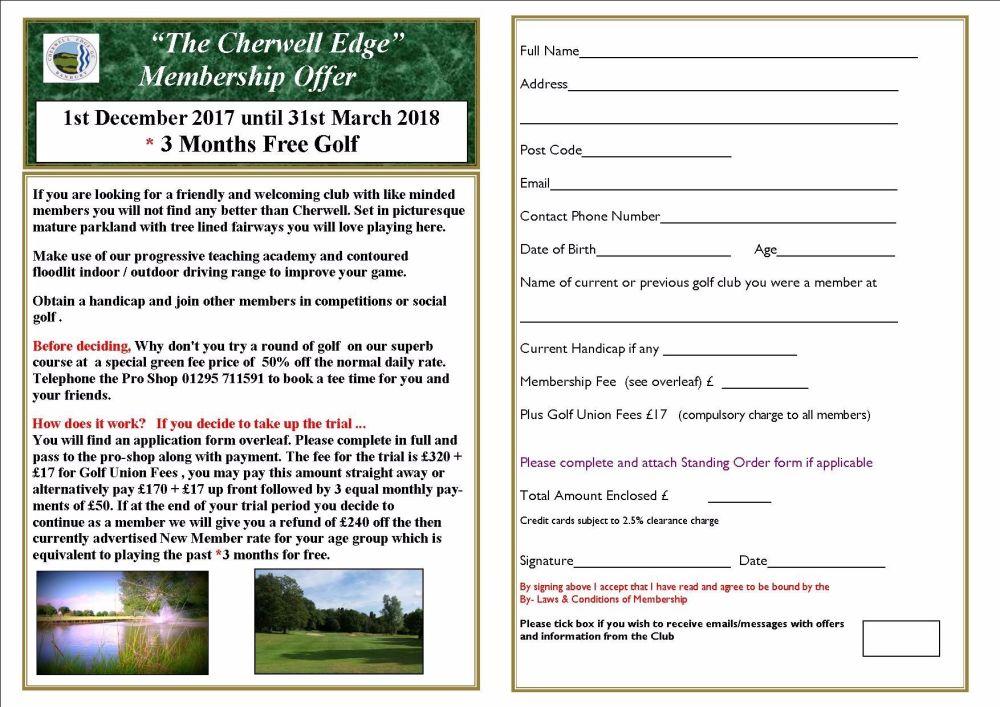 membership offer december 17