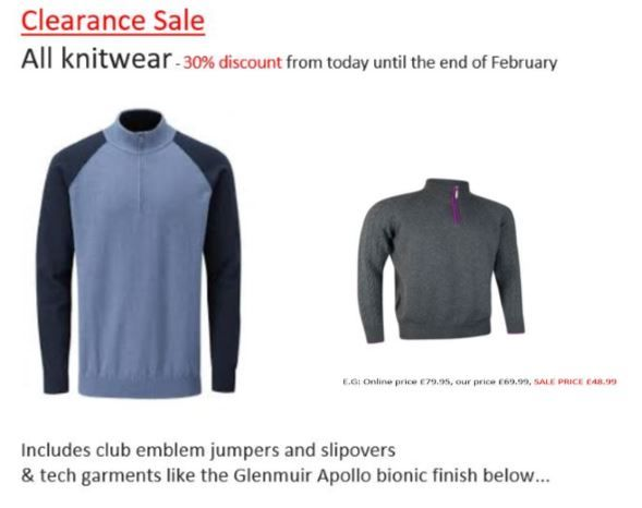knitwear sale.