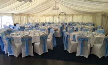 Baby blue marquee