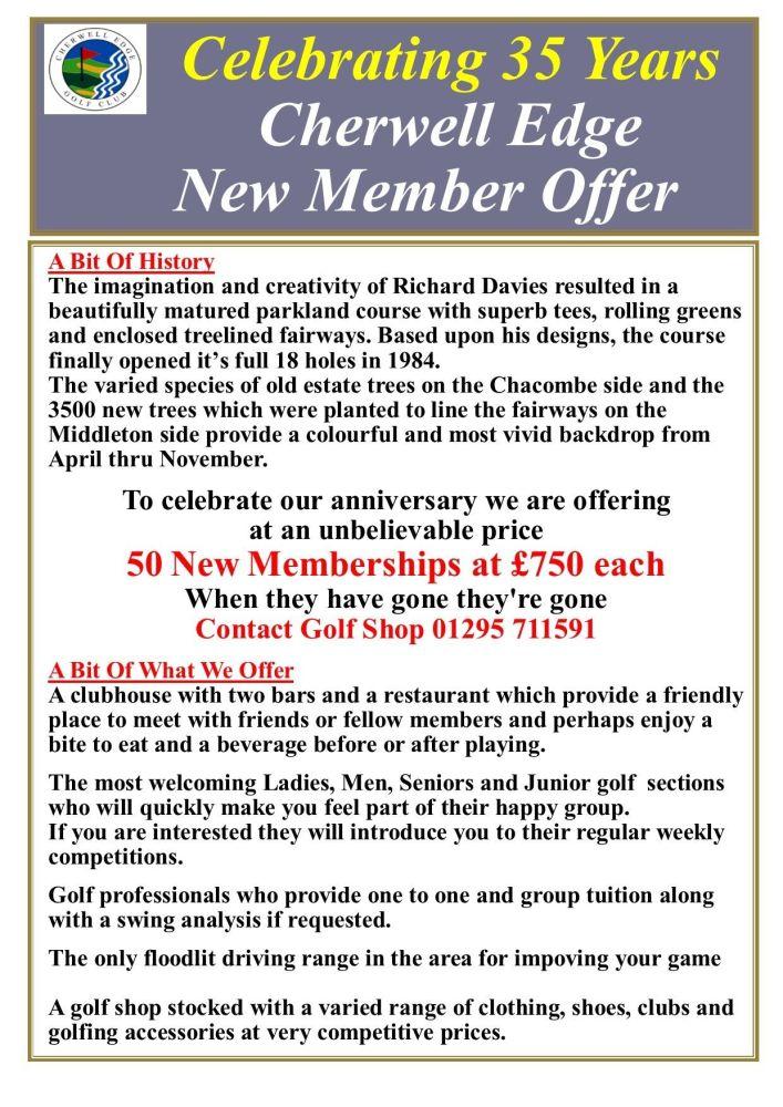 35 year membership