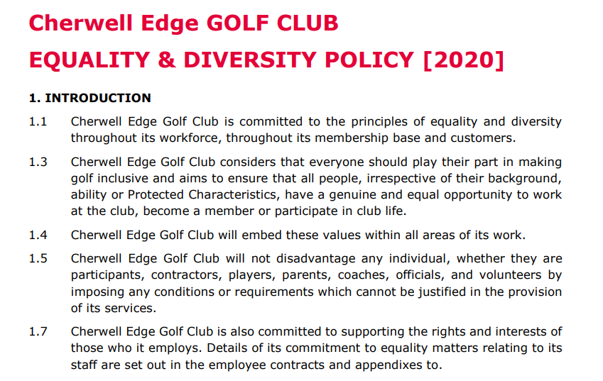 EQUALITY POLICY 2020 FRONT