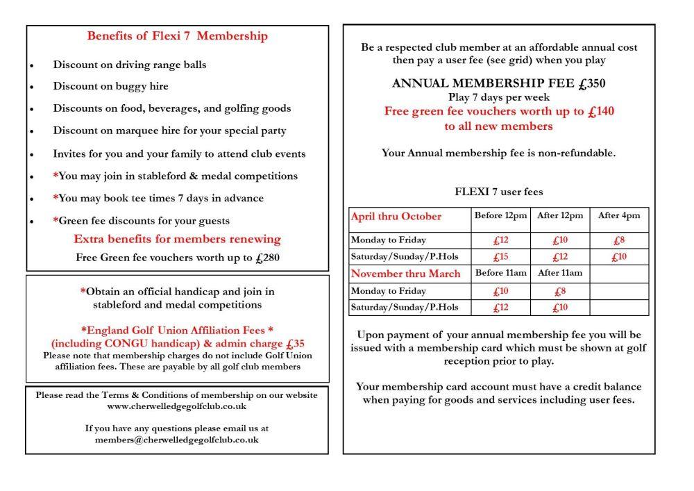 Cherwell Flexible membership April 2021 version 3