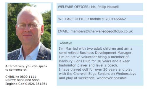 Welfare officer for web