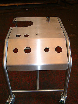 stainless Show trolley