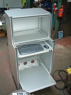 Alum Computer Cabinet