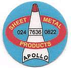 Apollo Sheet Metal, site logo.