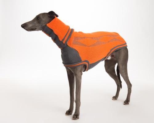 Diamond Sweater: Orange/Grey for Greyhounds