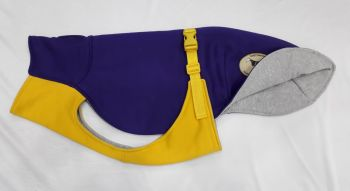 Sweat/Tee Shirt for Greyhounds, Bright Purple & Yellow Small Greyhound 26""