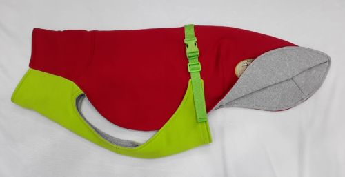 Sweat/Tee Shirt for Greyhounds, Red & Lime Green Small 26