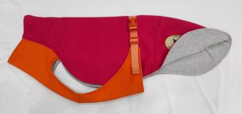 "Sweat/Tee Shirt for Greyhounds, Hot Pink & Orange Small 26"" only"
