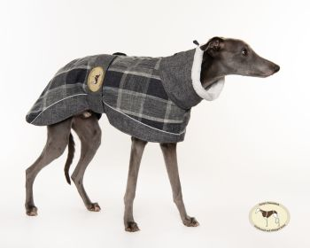 Ash Tweed Coat for Greyhounds