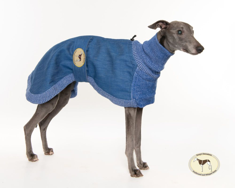 Blue Denim/Knit Sweaters for Greyhounds