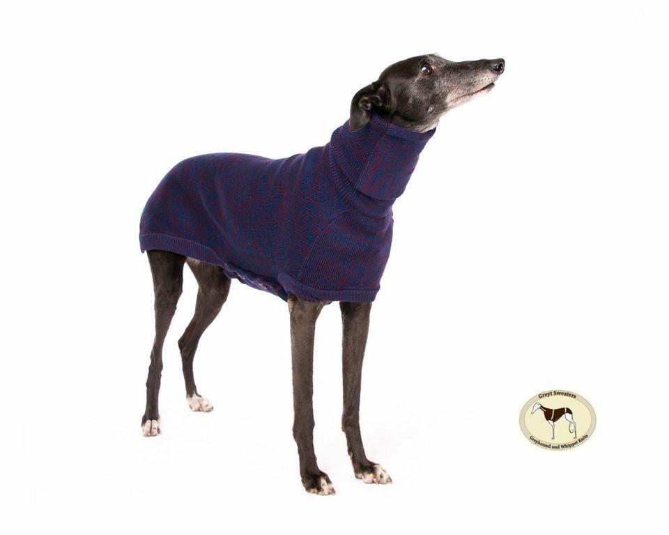 Brindle Sweater: Denim Blue/Wine