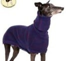 Brindle Sweater: Denim Blue/Wine Size Small 19 Whippets only