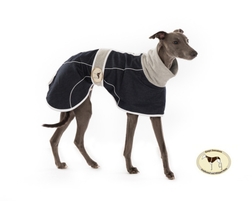 Indigo Denim Coat for Whippets