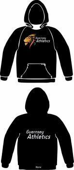 Female Club Hooded Sweat Black (No Zip)